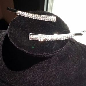3 items for $25  CRYSTAL BARRETS - SET OF 2